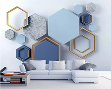beibehang Wallpaper 3d modern minimalist geometric marble mosaic TV background wall living room bedroom decoration 3d wallpaper beibehang modern minimalist 3d abstract geometric wallpaper barber shop scandinavian style bedroom living room tv background