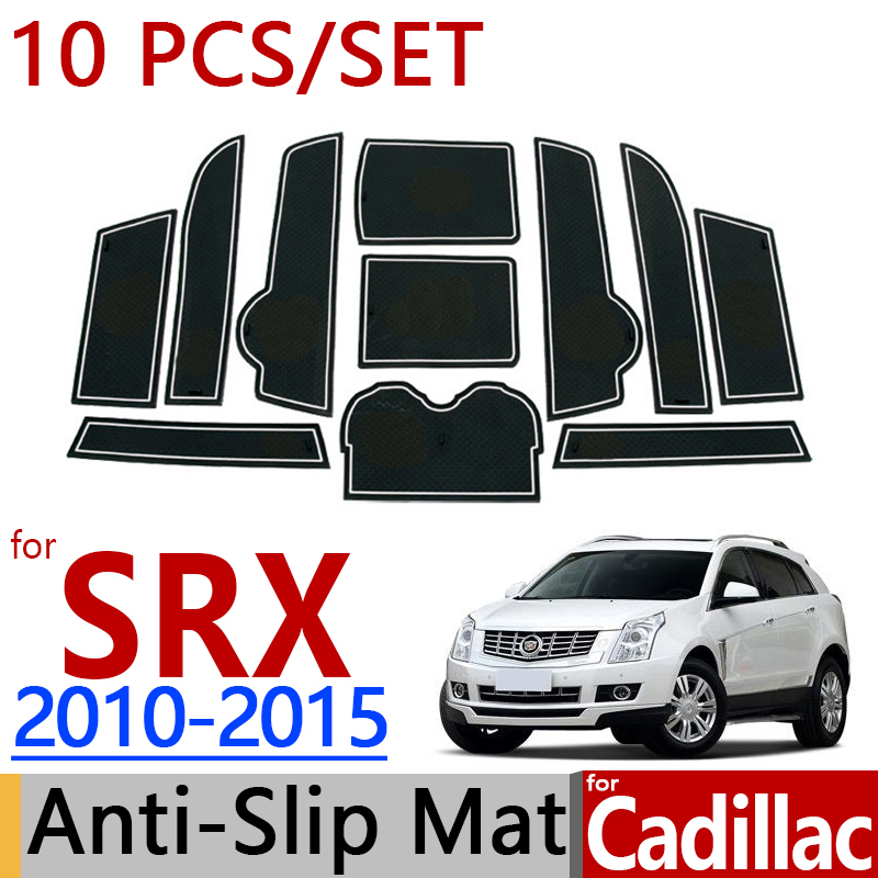 for Cadillac SRX 2010-2015 Anti-Slip Rubber Cup Cushion Door Mat Route 66 2011 2012 2013 2014 Accessories Car Styling Sticker б у шины 235 70 16 или 245 70 16 только в г воронеже