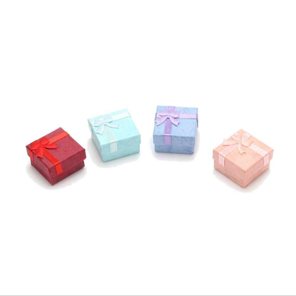 Жирная свинья Красочные 5 шт. Новый 4*4 см Jewery Организатор Box Кольца хранения милый поле Малый Подарочная коробка для кольца Серьги 4 цвета