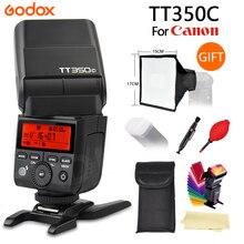 Godox TT350 TT350C GN36 2.4 г TTL Камера Вспышка Speedlite для Canon Бесплатная доставка + подарок
