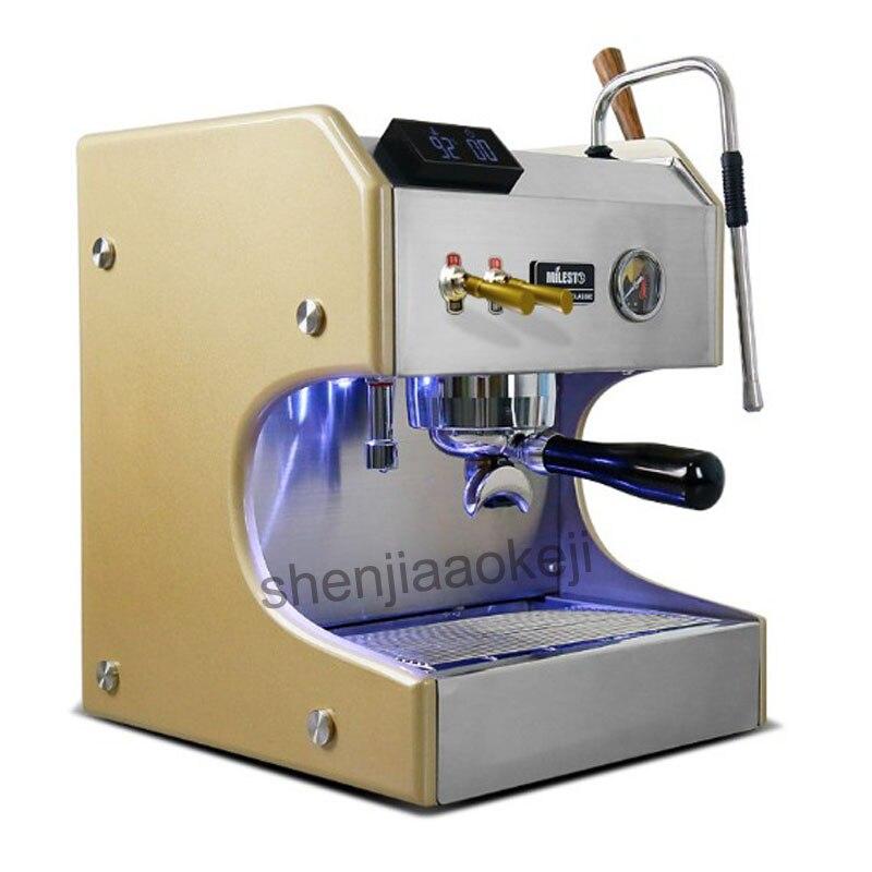 Бытовая из нержавеющей стали коммерческие Итальянский Эспрессо кофемашина EM 20 полуавтоматическая двойной насос кофе машины 3750 Вт 1 шт.