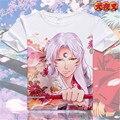 T-shirt de Anime Inuyasha Sesshoumaru Moneca Stori Transpirable camiseta de Manga Corta Camiseta Hombres de La Moda de Las Mujeres Top Tees