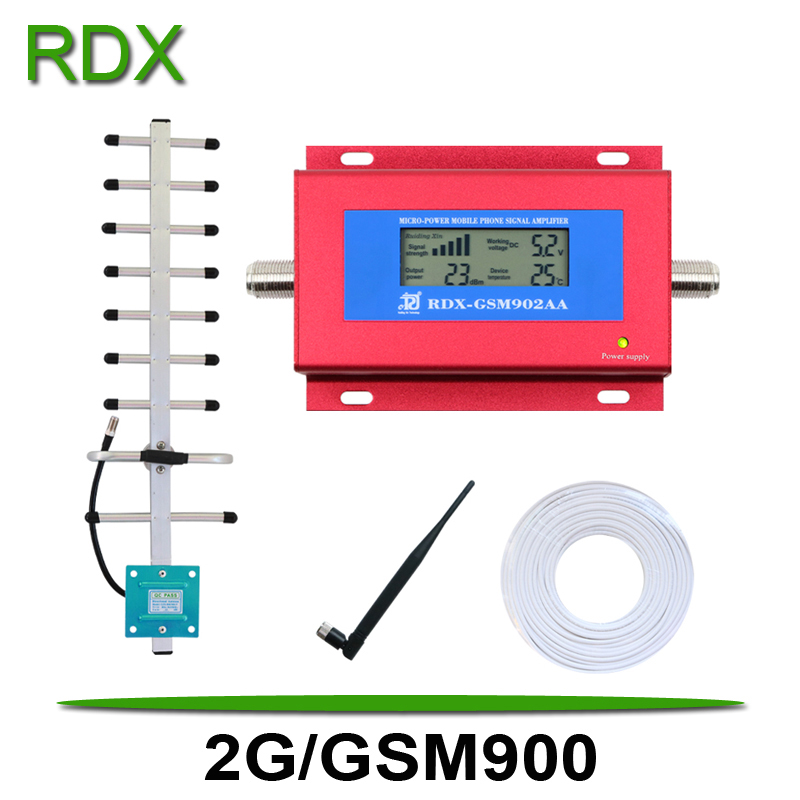 Cellphone GSM Repeater GSM900 MHz New Model LCD Display Mobile Phone 2G Signal Booster 2G/GSM 900MHz Yagi Antenna On Promotion