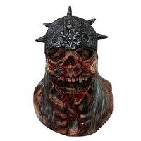 Super Straszny Czaszki Halloween nietoksyczny Lateksowa Maska Całą Twarz Dorosłych Oddychająca Masquerade Fancy Dress Party Cosplay Costume Mask