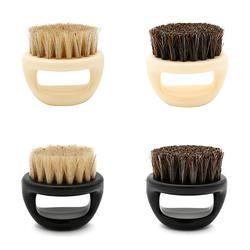 1 шт. Для мужчин лица Борода приспособление для чистки конский волос Для мужчин кисточку для бритья инструмент бритвы щетки с ручкой