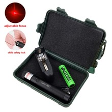 532 nm Purple/Green/Red Hunting Laser Sight Lasers Pointer Powerful Adjustable Focus Lazer with laser 301+Charger+18650+Case+Key