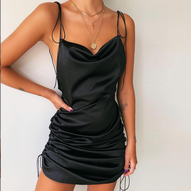 Macheda Fashion Backless Sleeveless Sexy Dress