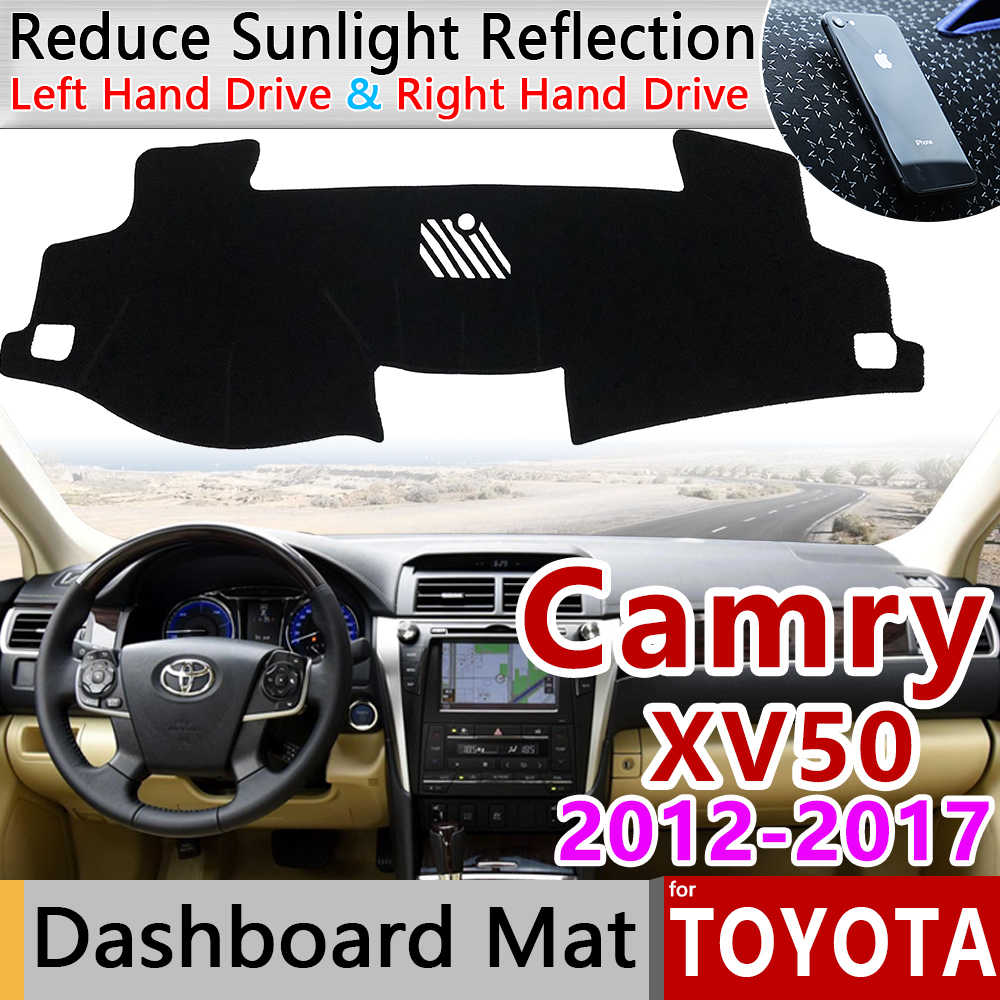 for Toyota Camry 50 XV50 2012~2017 Anti-Slip Mat Dashboard Cover Pad Sunshade Dashmat Carpet Car Accessories 2013 2014 2015 2016