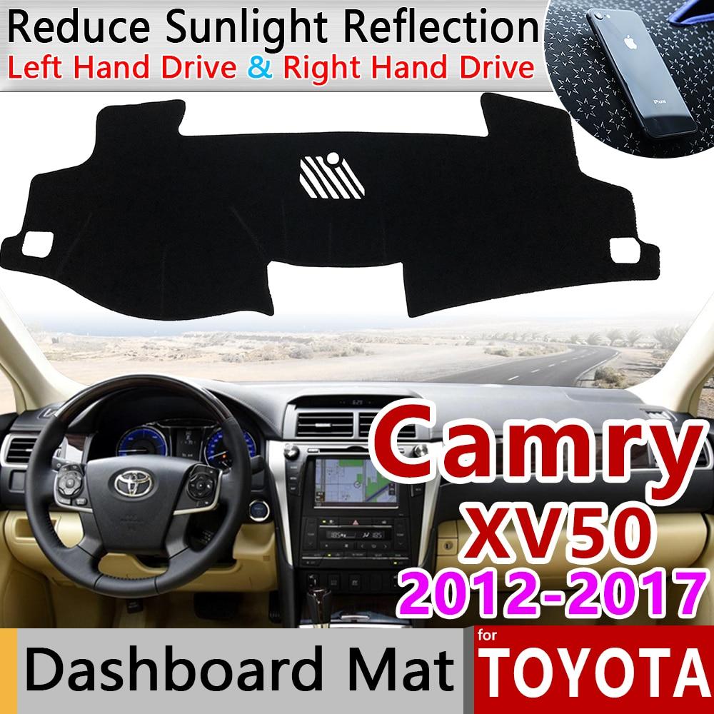 For Toyota Camry 50 XV50 2012~2017 Anti-Slip Mat Dashboard Cover Pad Sunshade Dashmat Carpet Car Accessories 2013 2014 2015 2016