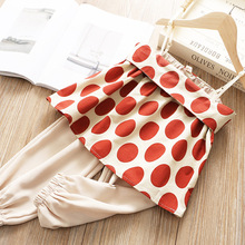 High quality vest polka dot soft fashion girl outfits boutique summer baby children clothing set цена 2017
