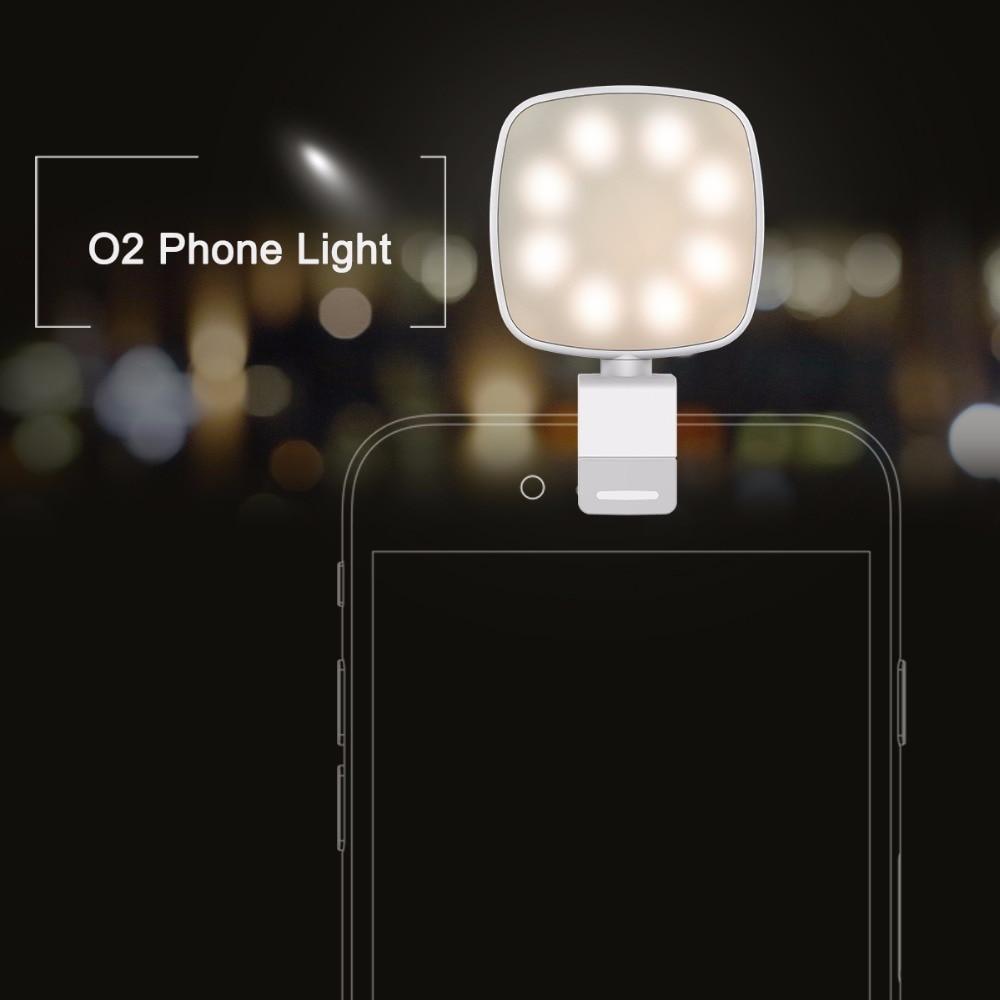 ROCK O2 Phone Selfie Light Mobile Phone Camera Flash Led light