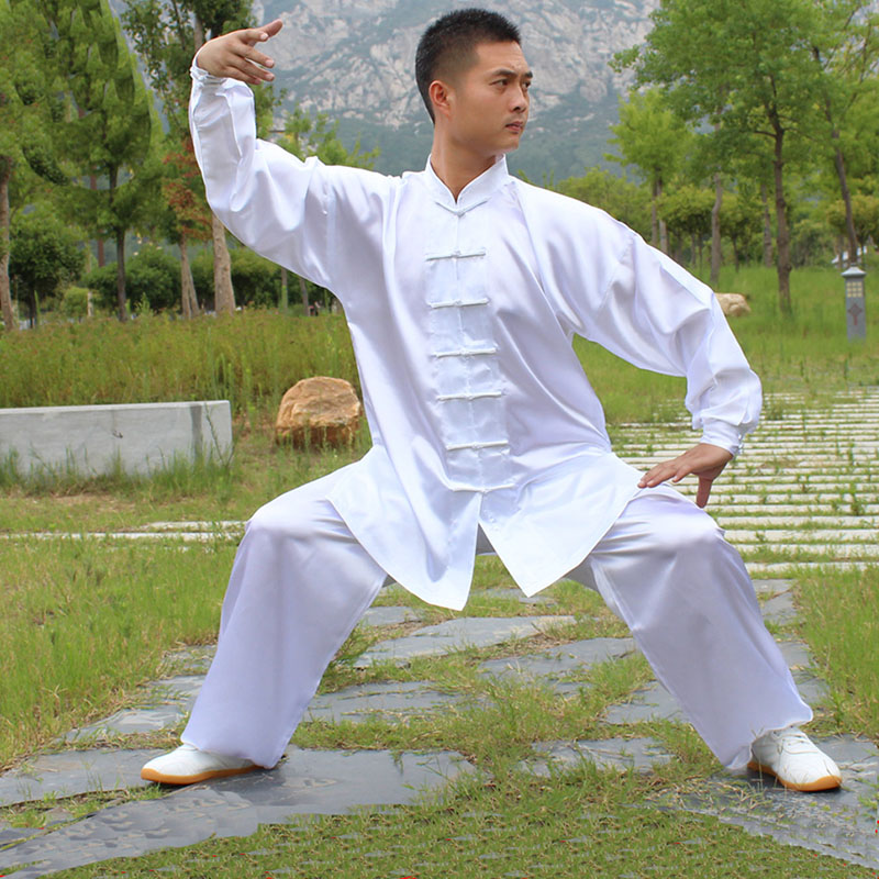 USHINE HX11 White Blue Yellow Tai Chi Performance Clothing Long-sleeve KungFu Uniform Wushu TaiChi Uniform Clothes Male Female