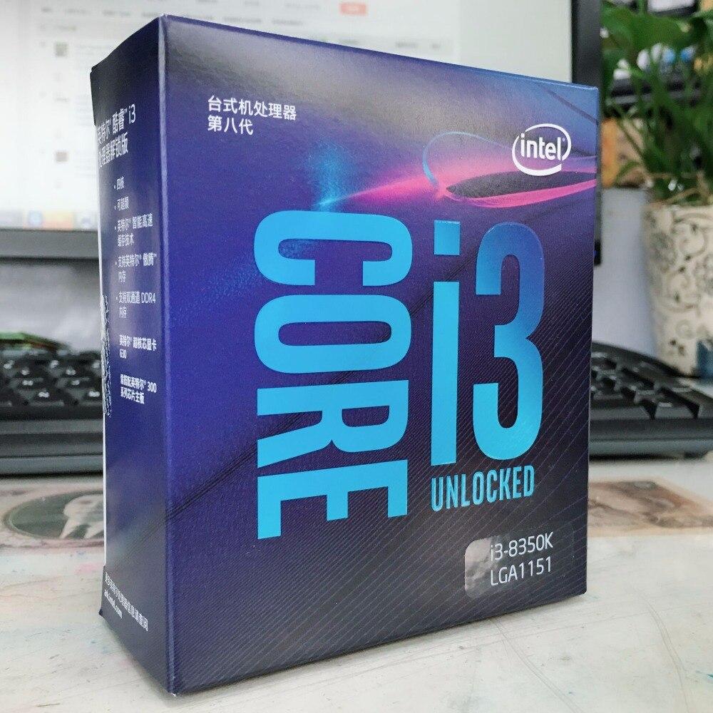 Intel Core8 PC computer I3 8350K I3-8350K Boxed processor CPU LGA 1151-land FC-LGA 14 nanometers Quad-Core cpu