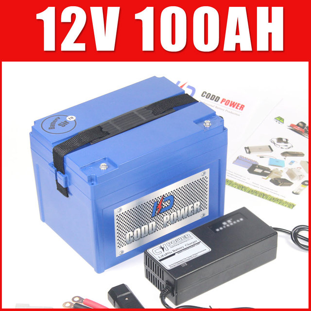 12V 100AH lithium ion Rechargeable Super Battery For Golf RC Car