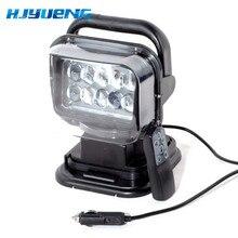 1pc 50w sem fio led marinha pesquisa luz 12v 24v led busca luz de controle remoto luz do ponto do carro conduziu a luz do trabalho 12v