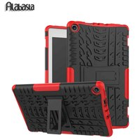 For Amazon Kindle New Fire HD 8 2017 Case Shockproof Tire Style Rugged Dual Layer Hybrid