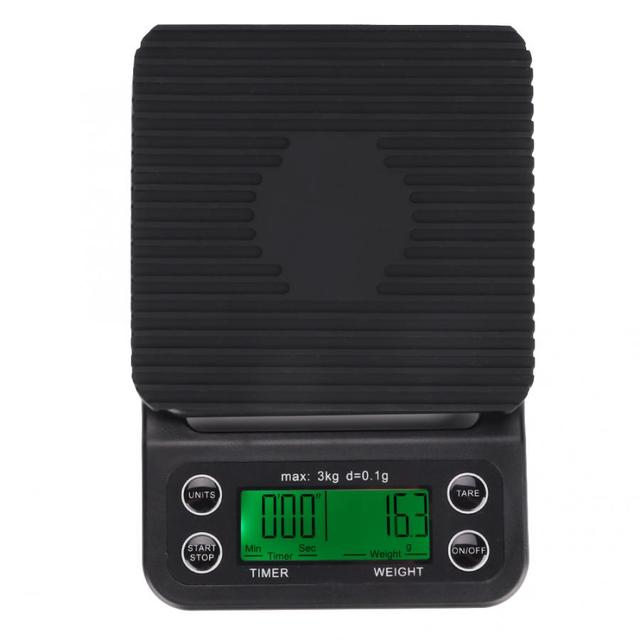 Digital Drip Coffee Scale with Accurate Timing High Precision Electronic Scale Multifunction Kitchen Bakery Food Scale