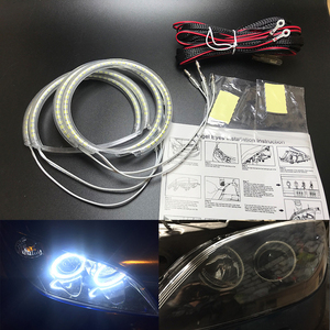 for Mazda 3 mazda3 2002 2003 2004 2005 2006 2007 Ultra bright SMD white LED angel eyes 2600LM 12V halo ring kit day light(China)