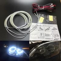 for Mazda 3 mazda3 2002 2003 2004 2005 2006 2007 Ultra bright SMD white LED angel eyes 2600LM 12V halo ring kit day light