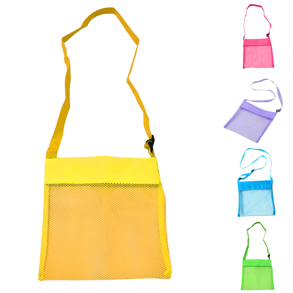 Lightweight Mesh Bag Big Capability Women Messerger Bags Toy Tool Storage Collection Pouch Tote Mom Kids Baby Beach Bag