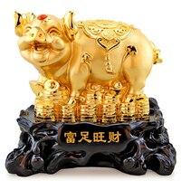 The Rich Pig golden pig Golden light decoration lucky rich pig crafts twelve zodiac Home Furnishing