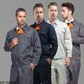 FRETE GRÁTIS Conjunto de-manga longa Casaco + Calças roupas de reparação automóvel mecânico uniforme uniforme de trabalho da estação de gás ao ar livre