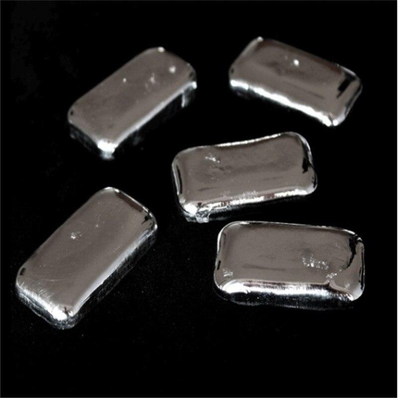 O envio gratuito de alta pureza 99.995% lingote de metal índio grumos mais competitivos indium 10-100g universidade pesquisa experimento diy
