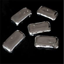 O envio gratuito de alta pureza 99.995% lingote de metal índio grumos mais competitivos indium 10 100g universidade pesquisa experimento diy