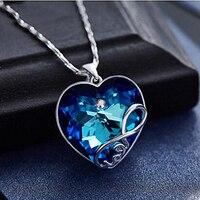 Top Biżuteria Europa popularne Mystic kryształ Syntetyczne 925 srebrne Wisiorki dla Naszyjniki Ślubne USA Rosja Kanada Australia Pendan