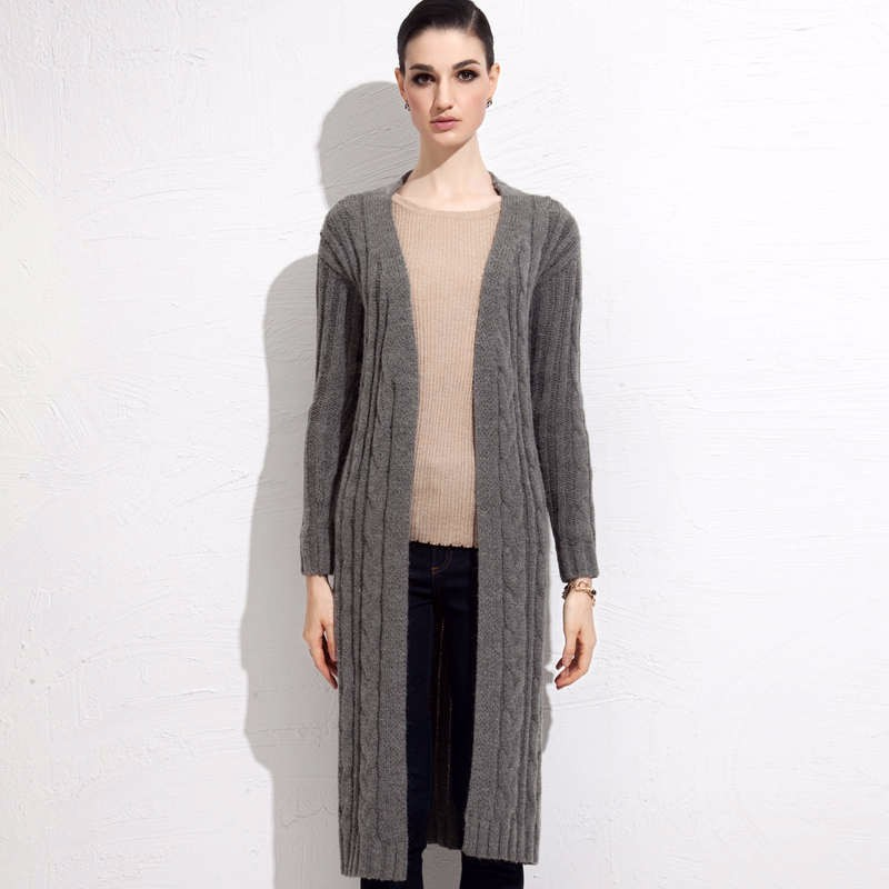 fall winter long cardigan sweater 3