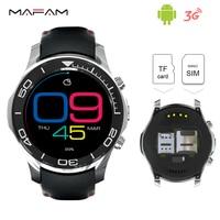 Android 3G Telefone de Pulso Smartwatch Bluetooth 4.0 Câmera 2.0MP WiFi GPS 1.2 GHz 512 MB 8 GB Cartão SIM Relógio De Pulso Inteligente S1 Disque Chamada