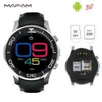 Android 3G Poignet Smartwatch Téléphone Bluetooth 4.0 2.0MP Caméra WiFi GPS 1.2 GHz 512 MB 8 GB SIM Carte Montre-Bracelet À Puce S1 Cadran Appel