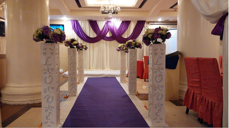 4PCS/LOT New Style assemblability Plastic Column White Wedding Pillars Decorative Wedding Column Pillar With LED light Wholesale