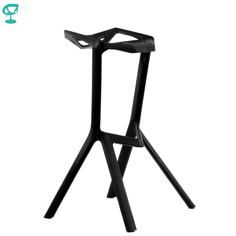 95193 Barneo N-228 Plastic High Kitchen Breakfast Bar Stool Swivel Bar Chair Black Free Shipping In Russia