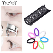 Pooypoot 15Pcs Eyelashes Curler Refill Rubber Pads High Elastic Universal Type Silicone Lash Curling Replacement Accessory