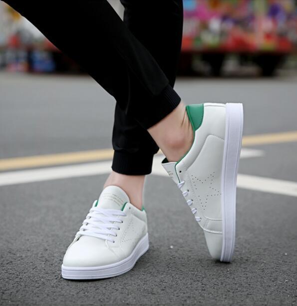 2016 Superstar Todo Blanco Estrella Zapatos de Moda Casual Hombres Zapatos de Los Planos de Los Hombres Respiran Hommes Chaussure Femme Sapatos masculinos