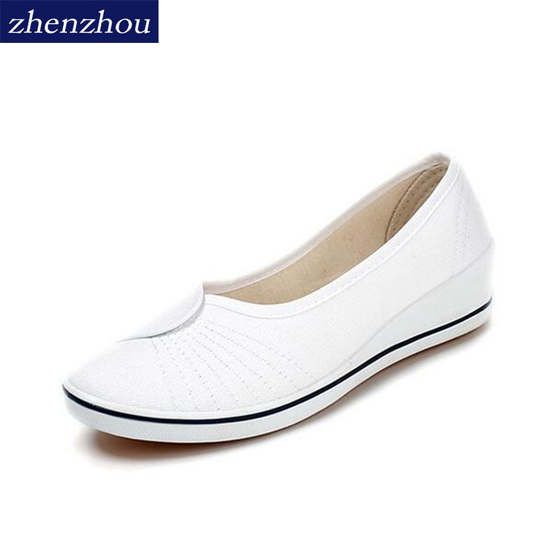 Free shipping Women's shoes 2017 The nurse white slope documentary beauty salon shoes white shoes black beauty work free shipping 2017 spring summer shake shoes breathable hollow out single women shoes the nurse s shoes white and platform shoes