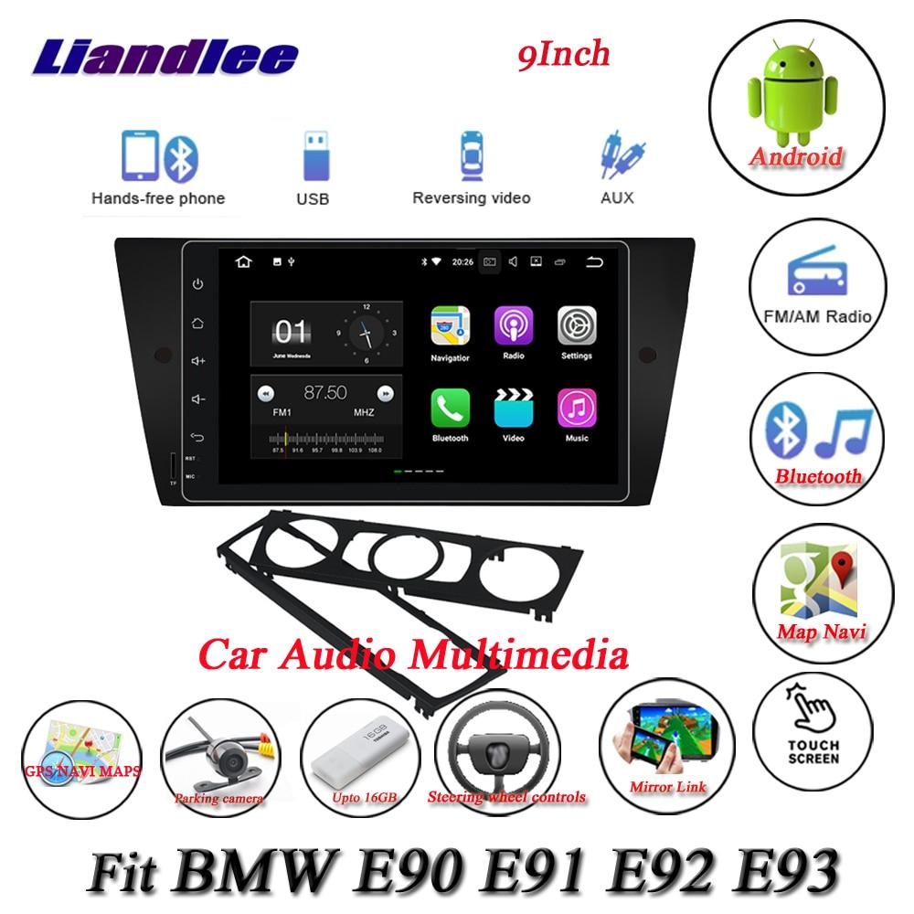 Liandlee Car Android System For BMW E90 E91 E92 E93 Radio GPS Nav Navi MAP Navigation Wifi HD Screen Multimedia NO CD DVD Player