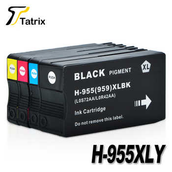 Tatrix For HP955 955XL For HP955XL Ink Cartridge 4 Color For HP OfficeJet Pro 7740 8210 8216 8710 8715 8716 8717 8720 8725 8727 - DISCOUNT ITEM  15 OFF Computer & Office