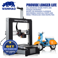 Newest DIY reprap kit, WANHAO i3 Plus, Professional 3D Printer in Metal Frame,High Precision,with Touch LCDandfree filament