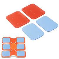 2 pièces/ensemble Gel tampons exercice minceur Machine de Massage bleu rouge abdominaux Gel Hydrogel autocollants pour Machines de Fitness