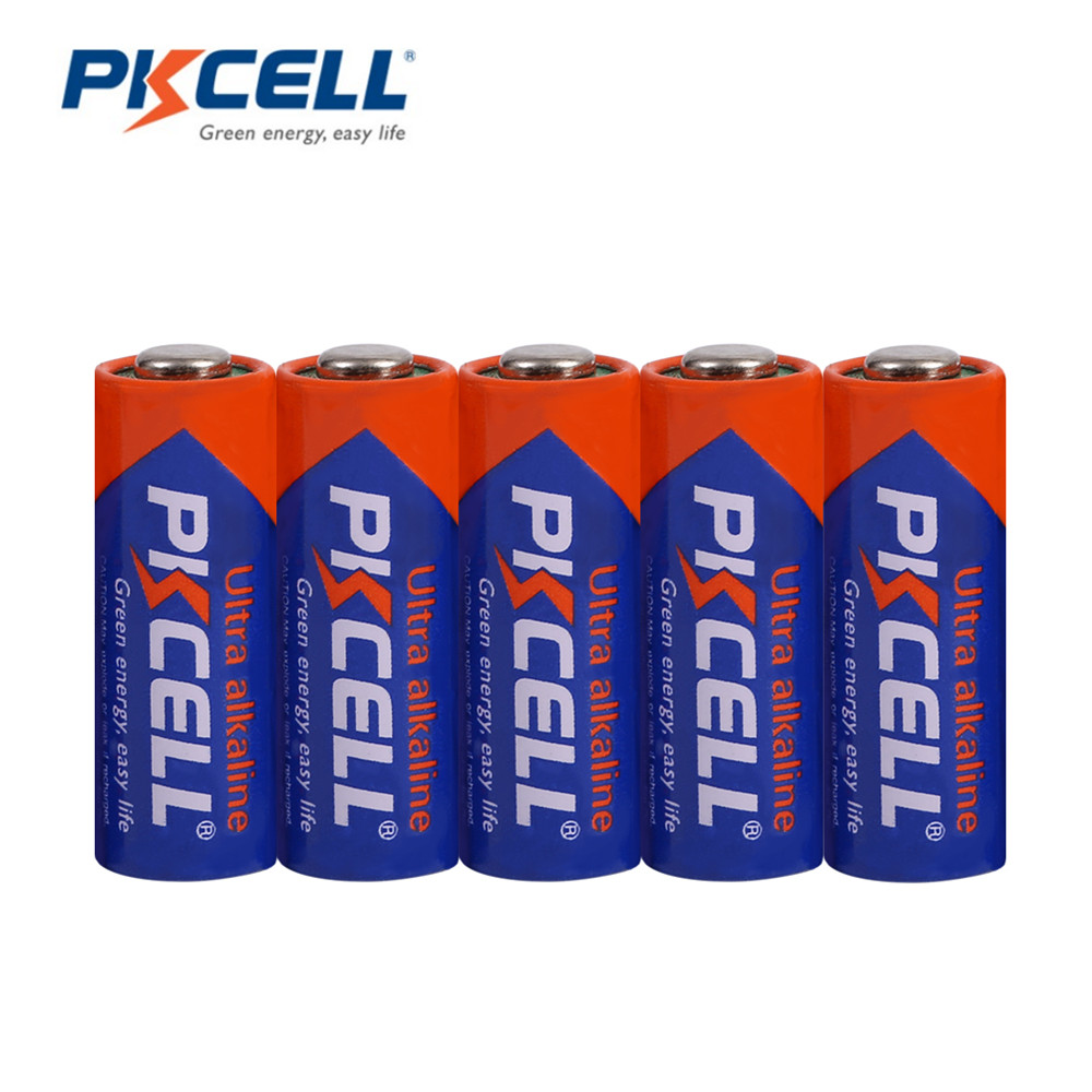 Pkcell 5pcs/1 Card 23A 12V Mercury Environmental Protecting Alkaline Battery Dry Batteries For Alarm Remote Control Camera Game