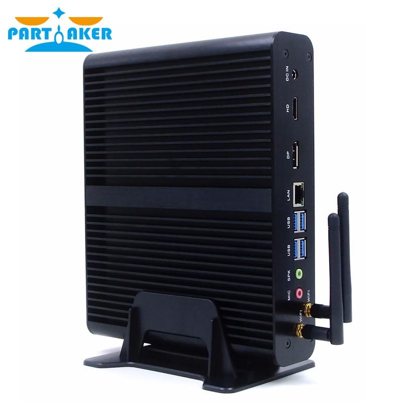 Teilhaftig B16 8th Gen Mini PC Intel Core i7 8550U Quad Core 4,0 GHz 8MB Cache Fanless Mini-Computer win 10 4K HTPC
