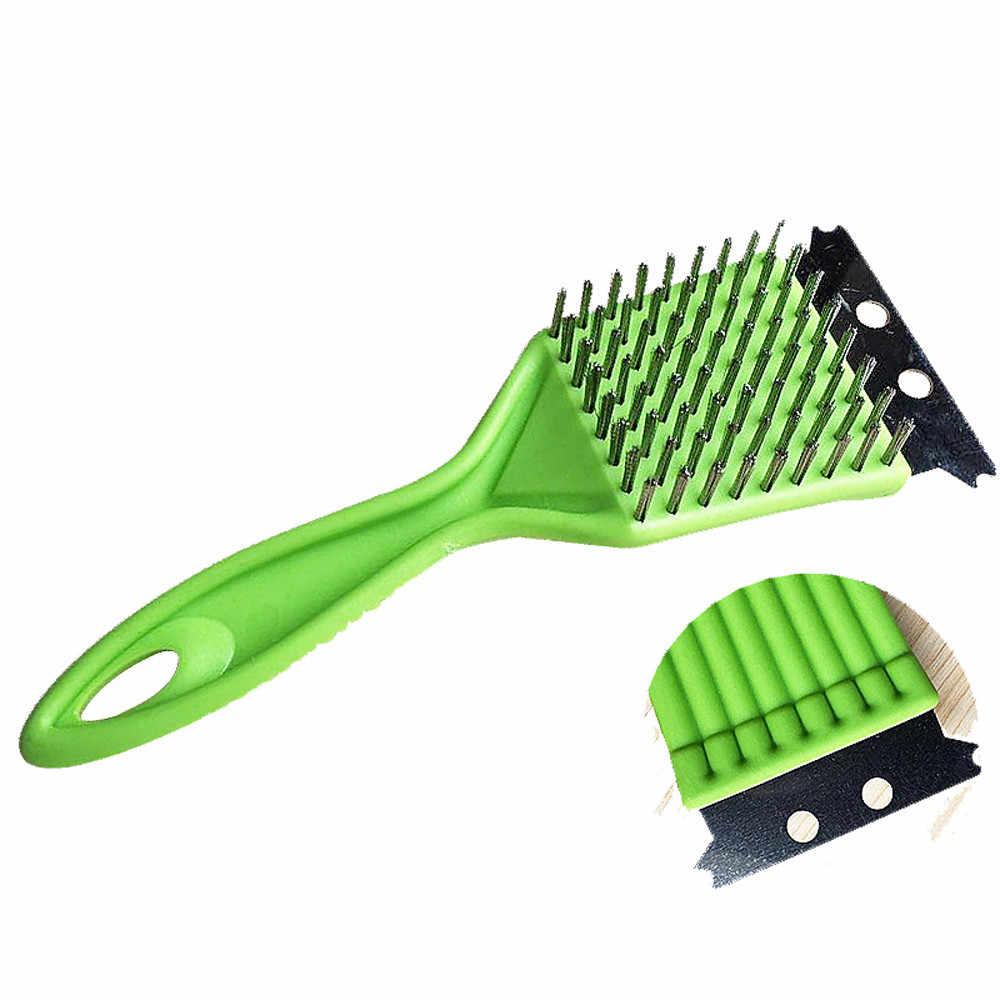 Барбекю Чистая нержавеющая сталь гриль Паровая очистка очиститель для приготовления барбекю щетка кухонные аксессуары