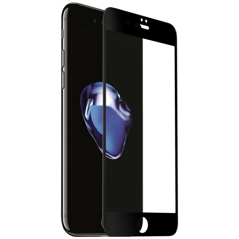 imágenes para Momax para apple iphone 6 6s plus tamaño curvada brillante completo revestimiento completo nanómetros de pantalla protector de vidrio templado 0.2mm