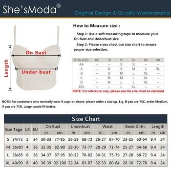 She'sModa Basic Smooth Cut Cross Spandex Push Up Bralet Women's Bustier Bra Cropped Top Vest Plus Size 6