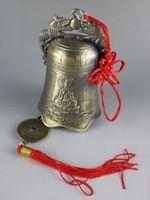 Exquisite Collectibles Chinesischen Tibetischen Buddhismus Tempel Kupfer Glocke Statue