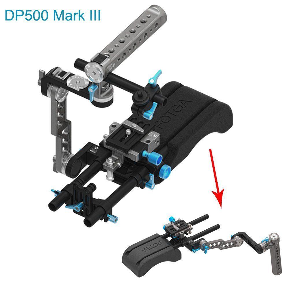 FOTGA DP500 Mark III épaulière fixe + poignée ENG + plaque de base 15mm pour DSLR