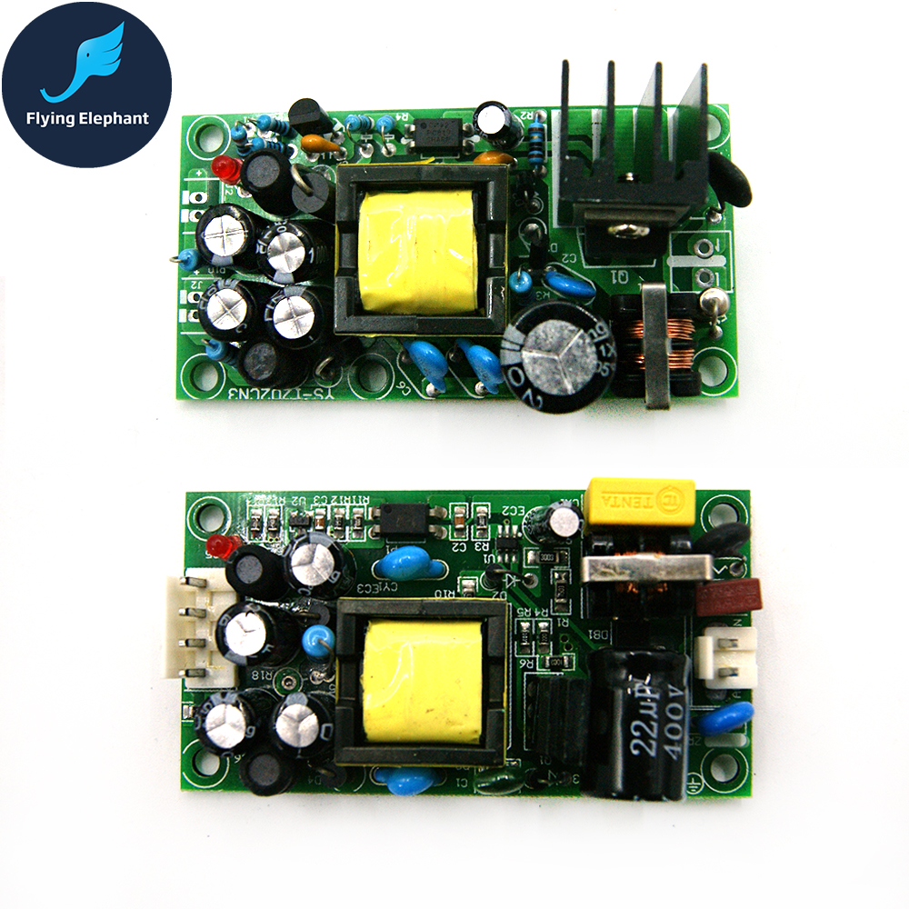 AC220V To DC5V & DC 12V 24V Dual Output Full Isolation Switch <font><b>Power</b></font> <font><b>Supply</b></font> <font><b>1A</b></font> AC-DC <font><b>5V</b></font> 12V 24V Buck Module image