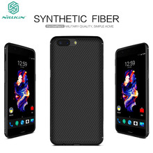 OnePlus 5 чехол Nillkin Synthetic Fiber задняя крышка телефона чехол для One Plus 5 A5000 Oneplus5 и магнитная Функция Чехол